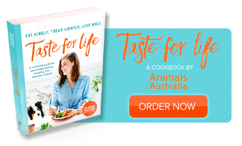 Order the Animals Australia cookbook: Taste for Life!