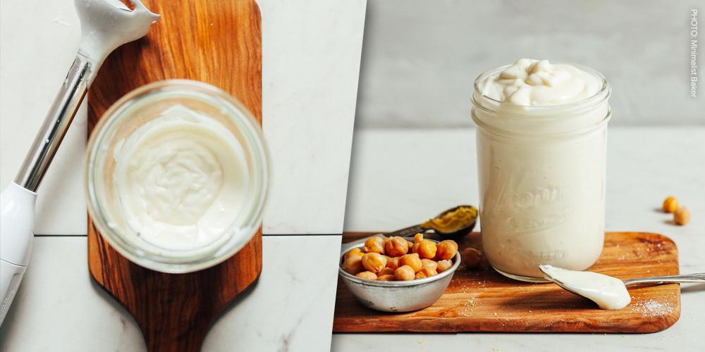 Creamy, dreamy aquafaba mayo
