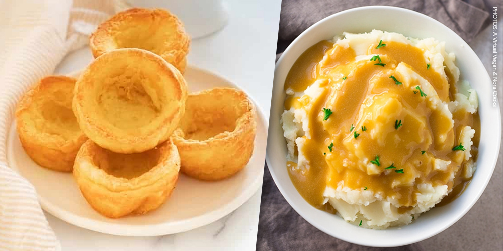 Yorkshire puddings + gravy