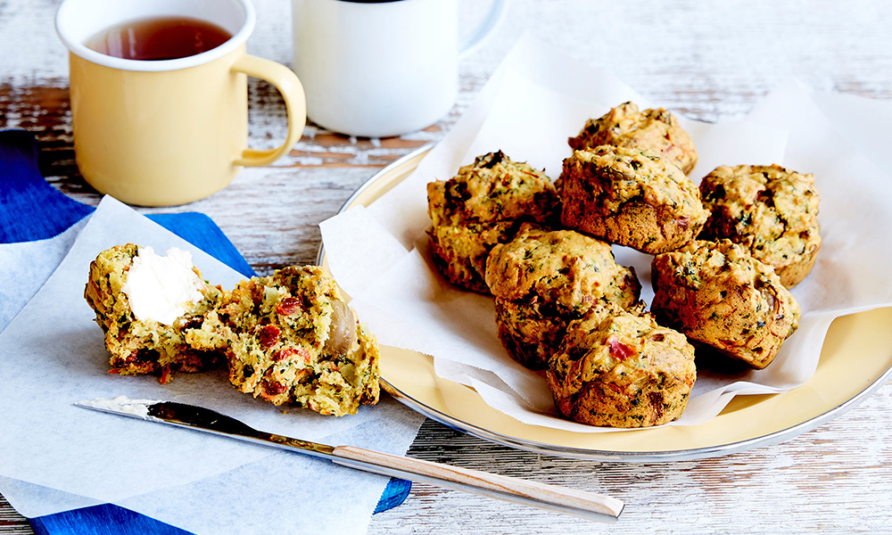 Sun-dried Tomato, Spinach & Olive Muffins