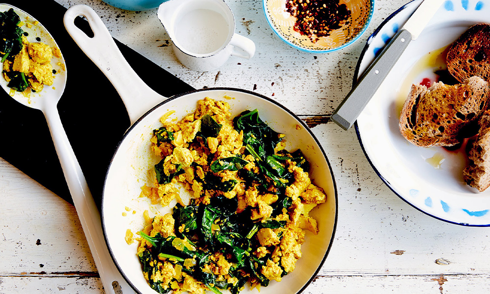 Spinach and tofu scramble
