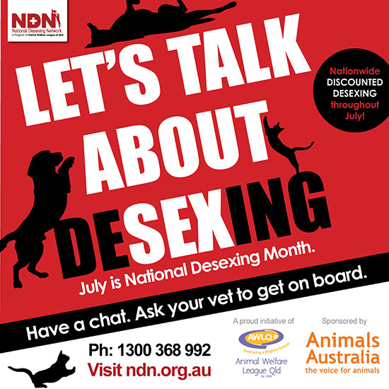 National Desexing Month 2017