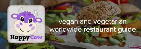 Happy Cow: FREE vegetarian and Vegan restaurant guide.